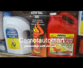 RADIATOR COOLANT AND FIRE EXTINGUISHER