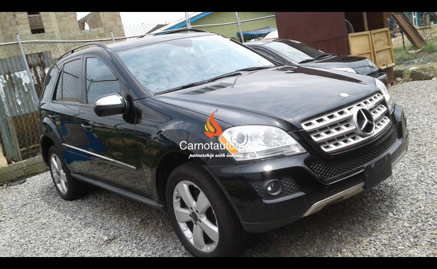 black mercedes benz ml350 4matic 2009